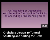 Tutorial - Shuffling and Sorting the Deck